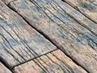 Railway timber rustic decking