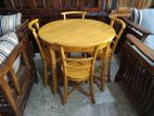 Round shape dining table with 4 chairs - dtc00037