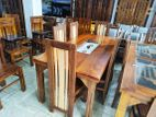 Teak dining table with 6 chairs 6x3 - abc1703