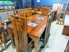 Teak dining table with 6 chairs 6x3 - tdtc0459