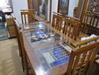 Teak Dining Table with 6 Chairs - TDC1002