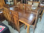 Teak Dinning Table Chairs--6x3--TDN1606