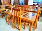Teak Dinning table with Chairs--TDT1370