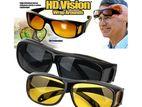 HD Vision Wraparound Day & Night Driving Glasses 2pcs