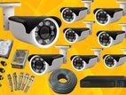 CCTV 2.4Mp 8 Camera with Full Set 8CH DVR, Hard, Jack, Cable