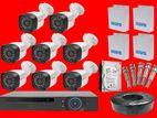CCTV 5Mp 8 Camera with Full Set DVR, Jack, Hard, Cable